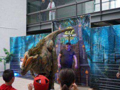 Dinosauriershow im Epilepsiezentrum Kork